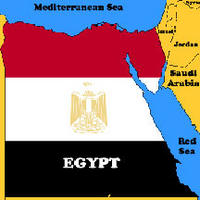 Grafik: Karte Ägypten