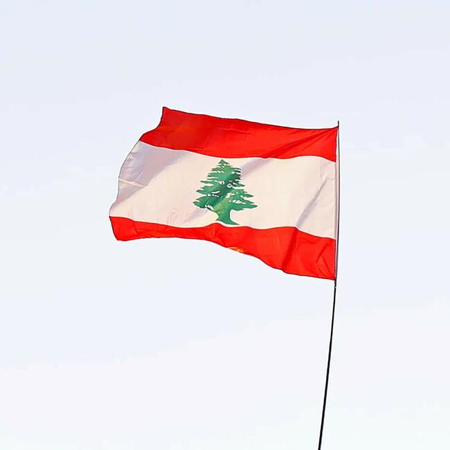 Fahne des Libanons