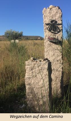 Wegzeichen auf dem Camino