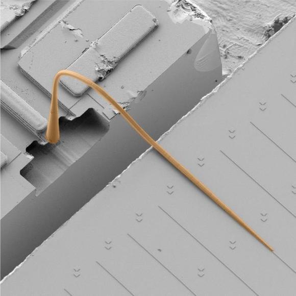 Entwurf eines photonischen Multi-Chip-Systems mit einem photonischen Wirebond. (Abbildungen: IPQ/IMT/KIT)