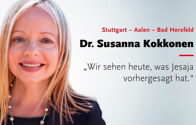 Sprechertour mit Dr. Susanna Kokkonen, 23.-27. März 2018