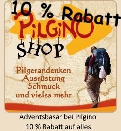 10 % Rabatt auf alles beim Pilgino-Adventsbasar