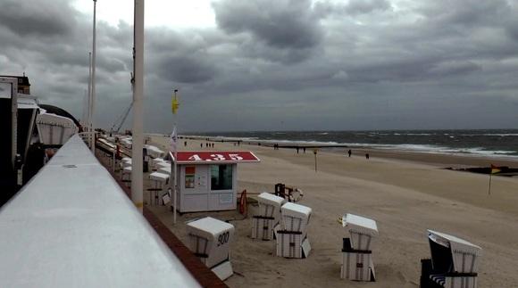 Sturm Ivan zog am Samstag über Sylt hinweg