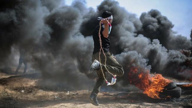 Krawalle am Gaza-Grenzzaun