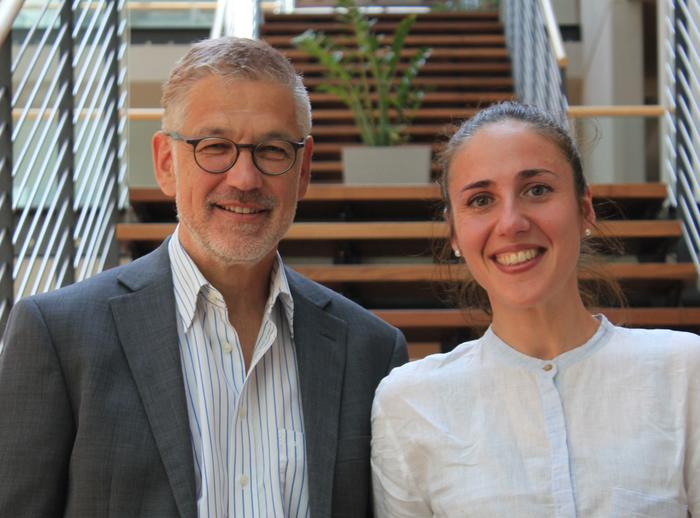 Reto M. Hilty und Valentina Moscon leiten die Projektgruppe zur Urheberrechtsreform in der EU (Foto: D. Zirilli / MPI)