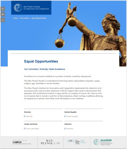Equal Opportunities Webpage